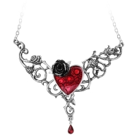 Collier Alchemy Gothic The Blood Rose Heart