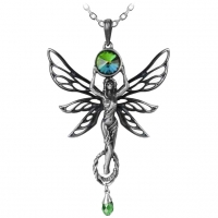 Pendentif Alchemy Gothic P763 the green godess
