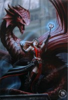 Scarlet Mage magnet anne stokes