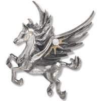 Anne stokes pendentif pegasus in the stars