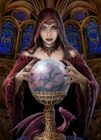 Anne Stokes toile sur chassis Crystal Ball