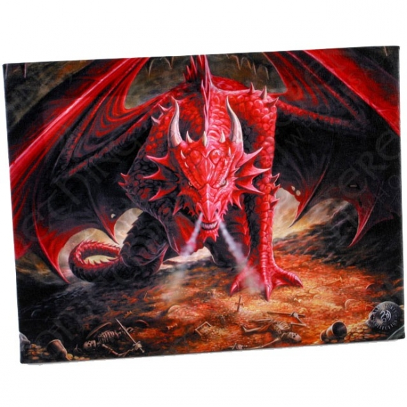 "Toile sur chassis ""Dragon's Lair"" / Décorations Murales Dragons"