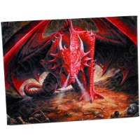 Anne Stokes toile sur chassis Dragon's Lair