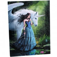 Anne Stokes toile sur chassis Enchanted Pool