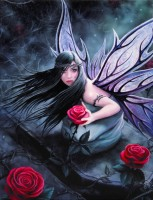 Anne Stokes toile sur chassis Rose Fairy