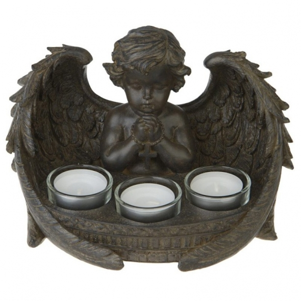 Bougeoir Ange Antik / Statuettes Anges
