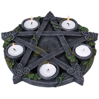 Bougeoir Wiccan Pentagram