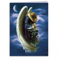 carte tree free ange angel on pedestal de shane pierce