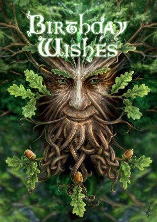 "Carte Greenman ""Oak King"" / Cartes avec Enveloppes"