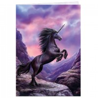 carte anne stokes licorne black unicorn