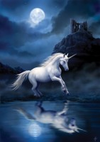carte anne stokes licorne moonlight unicorn