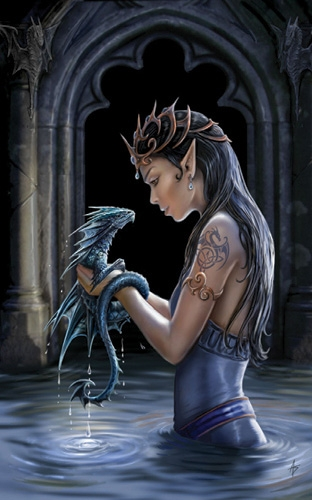 "Carte Elfe ""Water Dragon"" / Carterie Elfes"