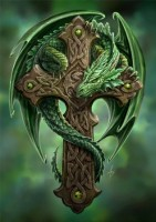 carte anne stokes dragon woodland guardian