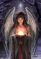 carte anne stokes ange yule angel