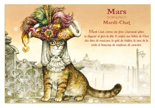 "Carte Postale Chat Mars ""Mardi-Chat"" / Cartes Postales Chats"