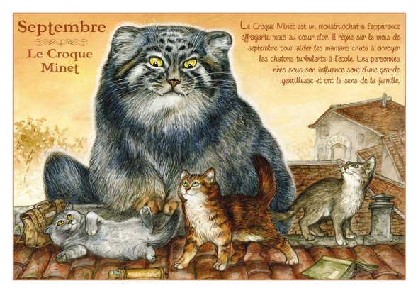 "Carte Postale Chat Septembre ""Croque-Minet"" / Cartes Postales Chats"
