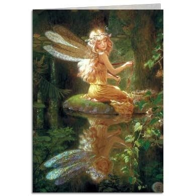 "Carte double avec enveloppe ""Faery Reflection"" / Tree Free"