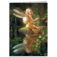 carte tree free fée faery reflection