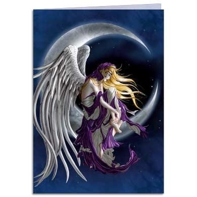"Carte double avec enveloppe ""Moondreamer Fairy"" / Nene Thomas"