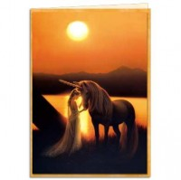 carte tree free licorne enchanted evening de kirk reinert