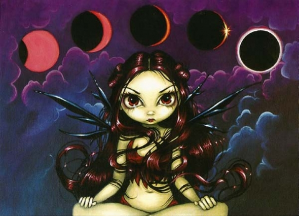 "Carte double avec enveloppe ""Invoking the Eclipse"" / Jasmine Becket-Griffith"