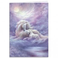carte tree free licorne unicorn mare