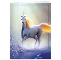 carte tree free licorne touched by the aurora
