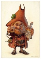 carte postale jean-baptiste monge lutin whisky cheers with the goblin