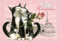 Carte Postale Severine Pineaux Chat Paris - Romantique CPK061