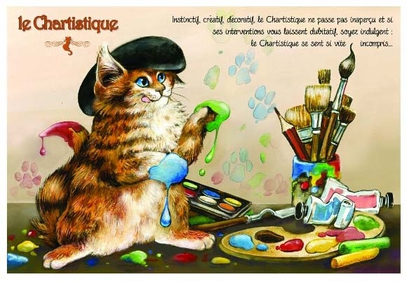"Carte Postale Chat ""Le Chartistique"" / Cartes Postales Chats"