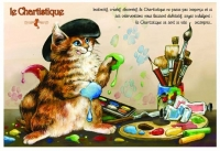 Carte Postale Severine Pineaux Chat Le Chartistique CPK128