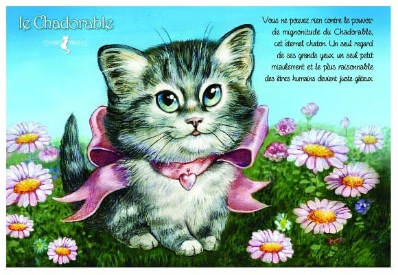 "Carte Postale Chat ""Le Chadorable"" / Carterie Chats"