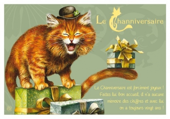 "Carte Postale Chat ""Channiversaire"" / Cartes Postales Chats"