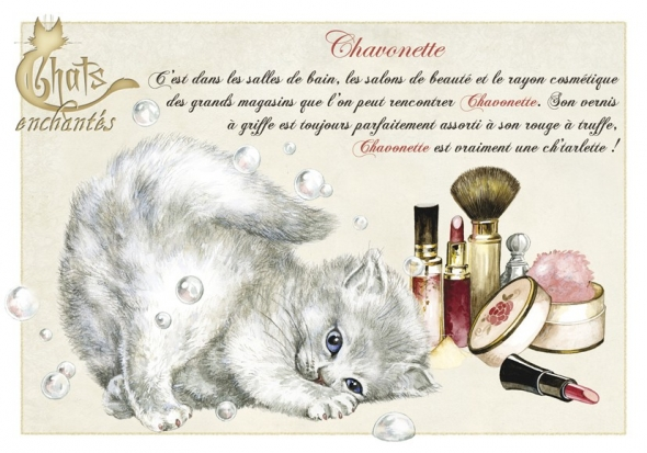 "Carte Postale Chat ""Chavonette"" / Séverine Pineaux"