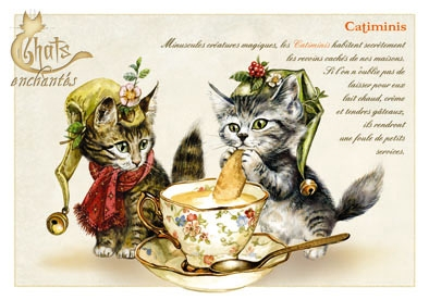 "Carte Postale Chat ""Catiminis"" / Séverine Pineaux"
