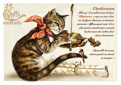 "Carte Postale Chat ""Chadivarius"" / Cartes Postales Chats"