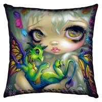 Coussin Darling Dragonling - Jasmine Becket Griffith - Nemesis Now - B1363D5
