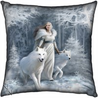 Anne Stokes coussin Winter Guardians
