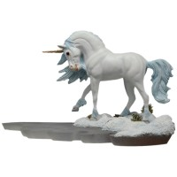 Figurine Licorne Dragonsite Winter Walk Andrew Hull