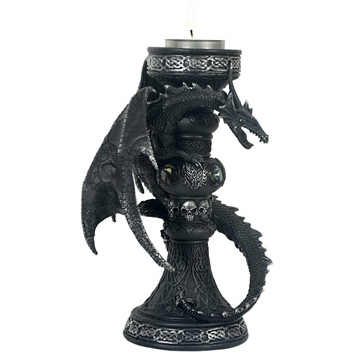 Bougeoir Dragon noir / Bougeoirs Dragons