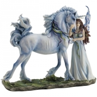 figurine fée avec licorne  Long live magic Jody Bergsma