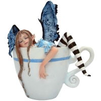 Figurine de Fée Amy Brown I Need Coffee Fairy