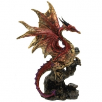 Figurine Dragon Rouge et Or