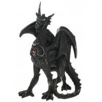 figurine Dragon noir