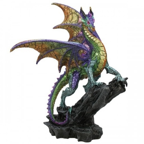 Dragon sur rocher / Statuettes Dragons