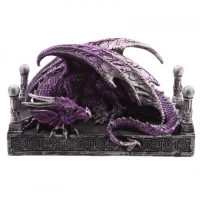 Figurine Dragon violet couché