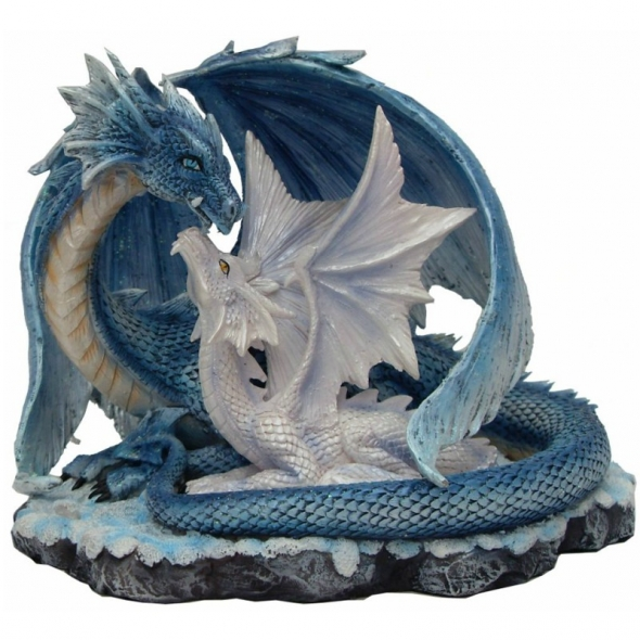Dragon avec Dragonnet / Statuettes Dragons