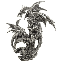 Figurine Dragons sur rocher