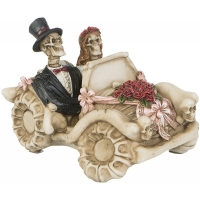 figurine gothique Squelettes Bride & Groom in car