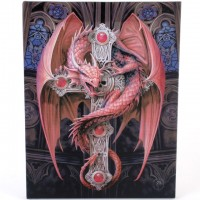 Anne Stokes toile sur chassis Gothic Guardian